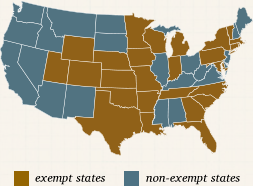 Tax Exempt States